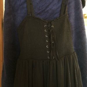 Torrid corseted black dress, size one